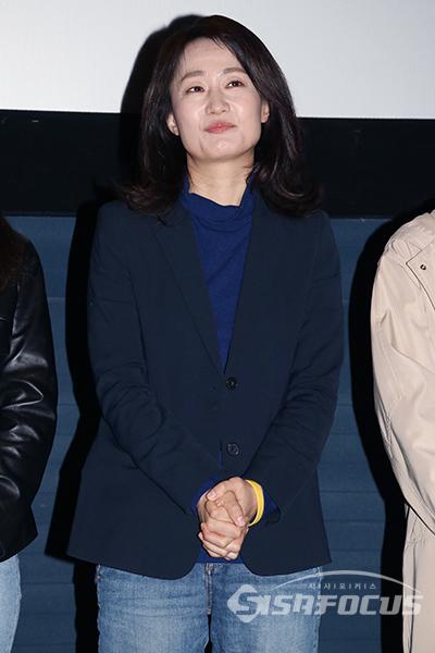무대인사를 하고 있는 배우 김수진 [사진 / 오훈 기자]